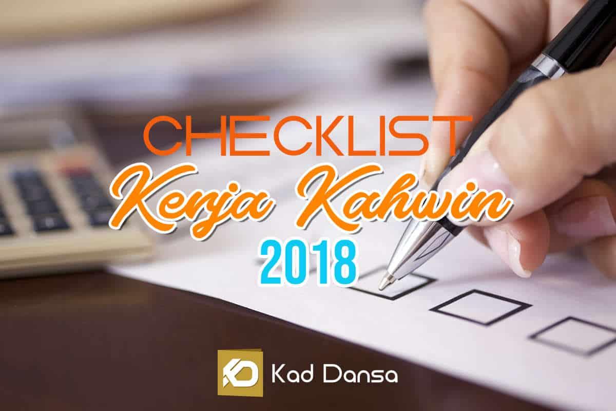 Checklist Lengkap Persiapan Untuk Majlis Perkahwinan Anda (Edisi 2019)