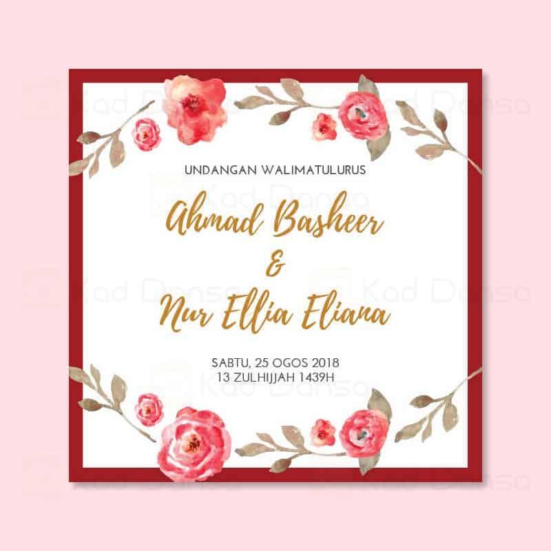 Floral 02 – Pakej Kad Kahwin