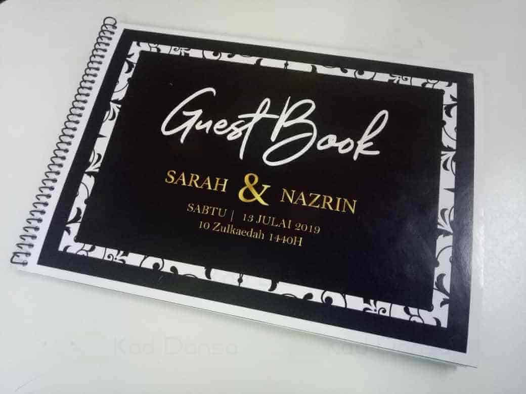 Wedding Guestbook A4 30 pages