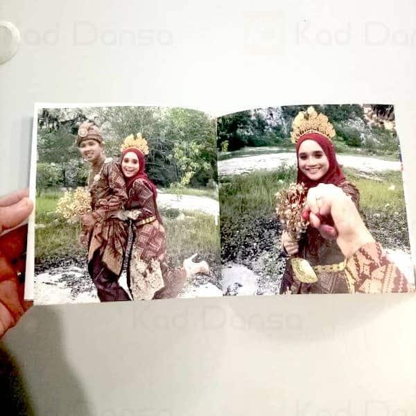 Mini Photobook 6'x6′ Square Album Gambar Kahwin