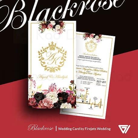 Blackrose Pakej Kad Kahwin FJW