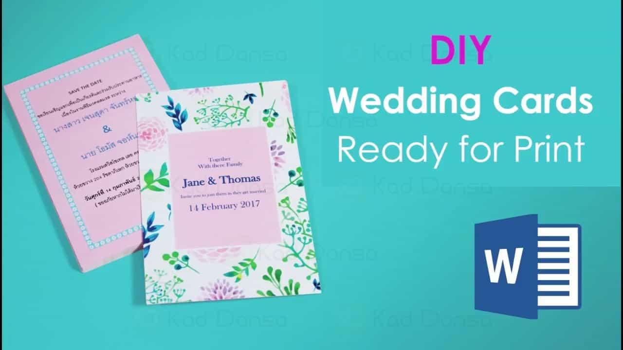 [Tutorial] Design Kad Kahwin Sendiri DIY Guna Microsoft Word