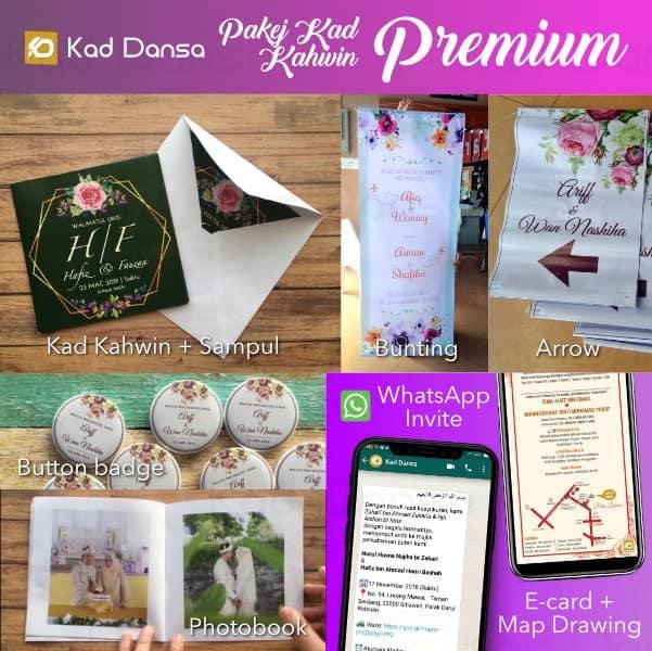 Pakej Kad Kahwin Premium 2019 : 9-in-1 Murah