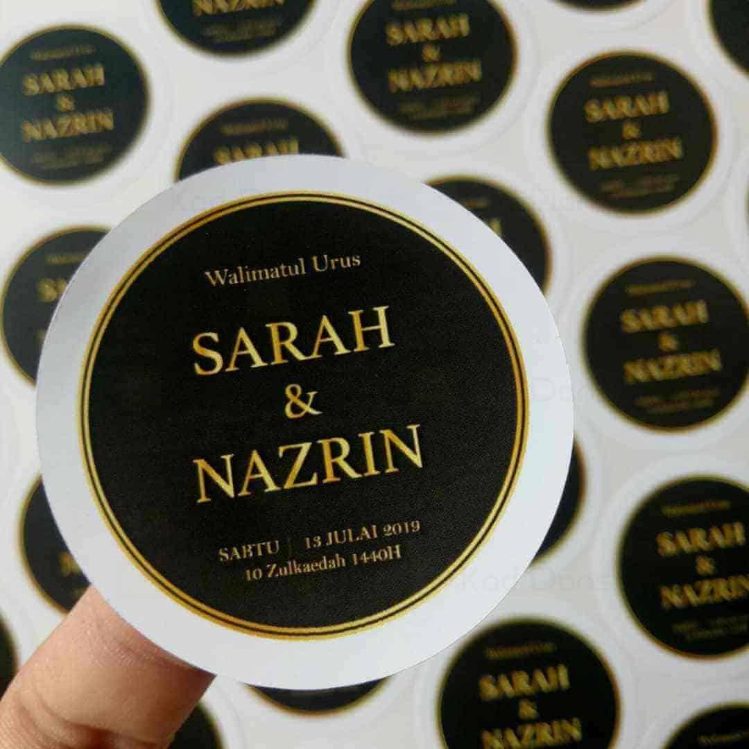 Sticker Doorgift Goodies Kahwin